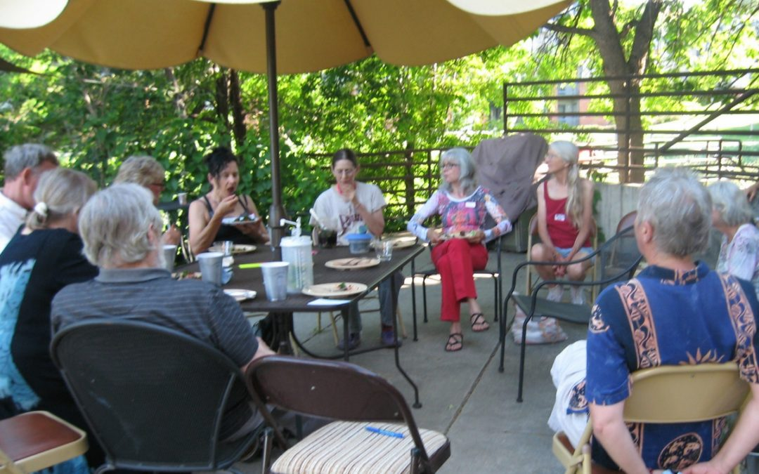 April Potluck Grows Exchanges and Fun