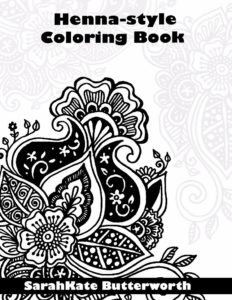 Sarakate Henna-Style Coloring Book